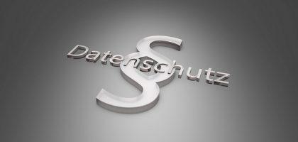 Datenschutz-Symbol - Paragraph liegend mit Wort Datenschutz